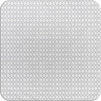 Vierkant Tafelzeil - 140 cm - Hexagonal-layers-Wit/Grijs