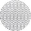 MixMamas Tafelzeil Rond - 140 cm - Hexagonal-layers-Wit/Grijs