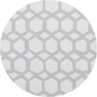 Tafelzeil Rond - 140 cm - Hexagonal-layers-Wit/Grijs
