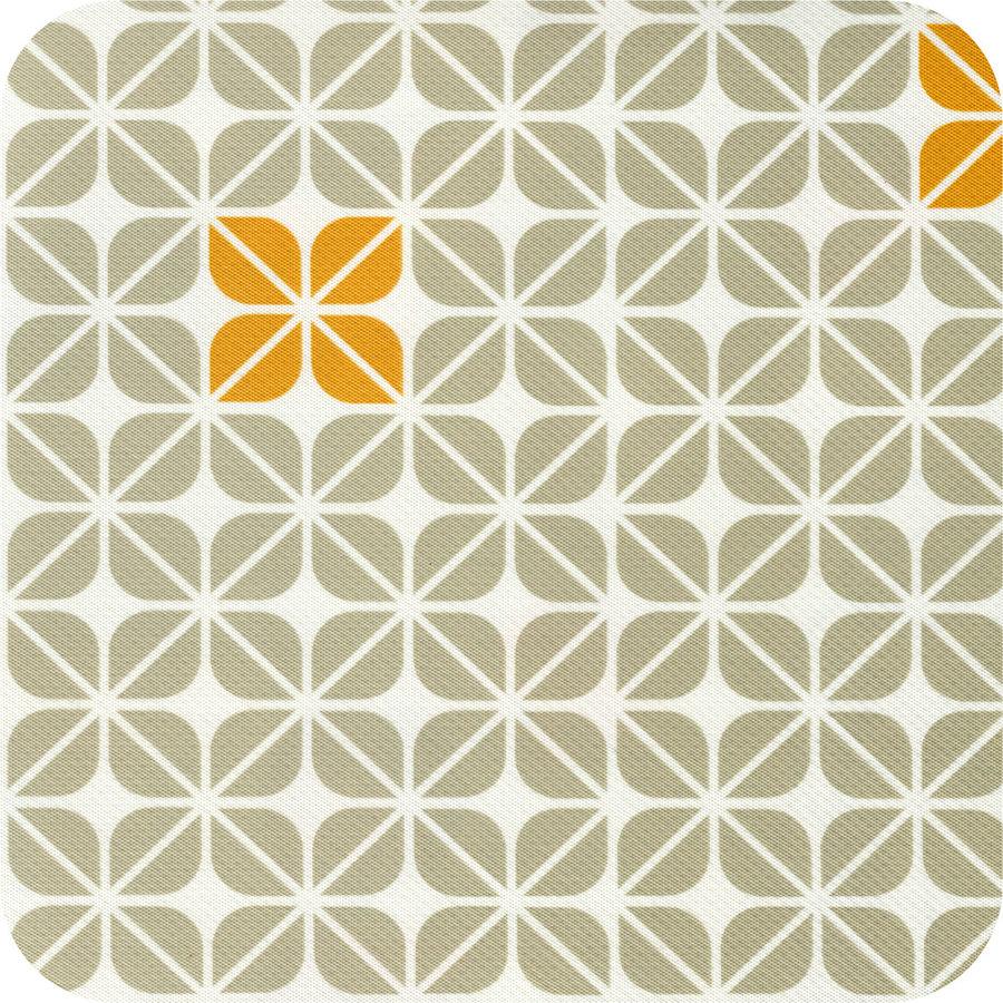 Vierkant Tafelzeil - 140 cm - Graphic-flower-taupe-oker