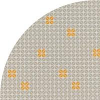Tafelzeil Rond - 140 cm - Graphic-flower-taupe-oker