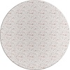MixMamas Tafelzeil Rond - 140 cm - Monstera Taupe/Wit