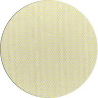 Tafelzeil Rond - 140 cm - Oogjes - Grijs/Geel