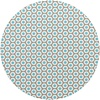MixMamas Tafelzeil Rond - 140 cm - Oogjes - Taupe/Turquoise