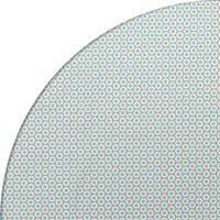 Tafelzeil Rond - 140 cm - Oogjes - Taupe/Turquoise