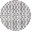 MixMamas Tafelzeil Rond - 140 cm - Honingraat - Hexagon - Zwart/Blauw
