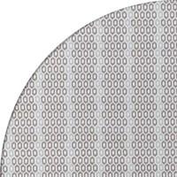 Tafelzeil Rond - 140 cm - Honingraat - Hexagon - Zwart/Blauw