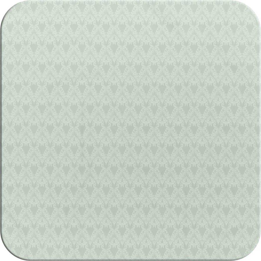 Vierkant Tafelzeil - 140 cm - Ornaments Almond Green