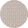 MixMamas Tafelzeil Rond - 140 cm - Graphic-leaves-taupe