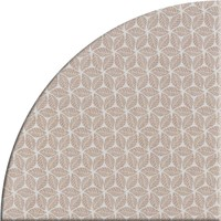 Tafelzeil Rond - 140 cm - Graphic-leaves-taupe