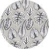 MixMamas Rond Tafelkleed Gecoat - 140 cm Botanische Print Monstera Zwart