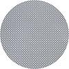 MixMamas Rond Tafelkleed Gecoat - 140 cm Rondjes en Vierkantjes Grijs