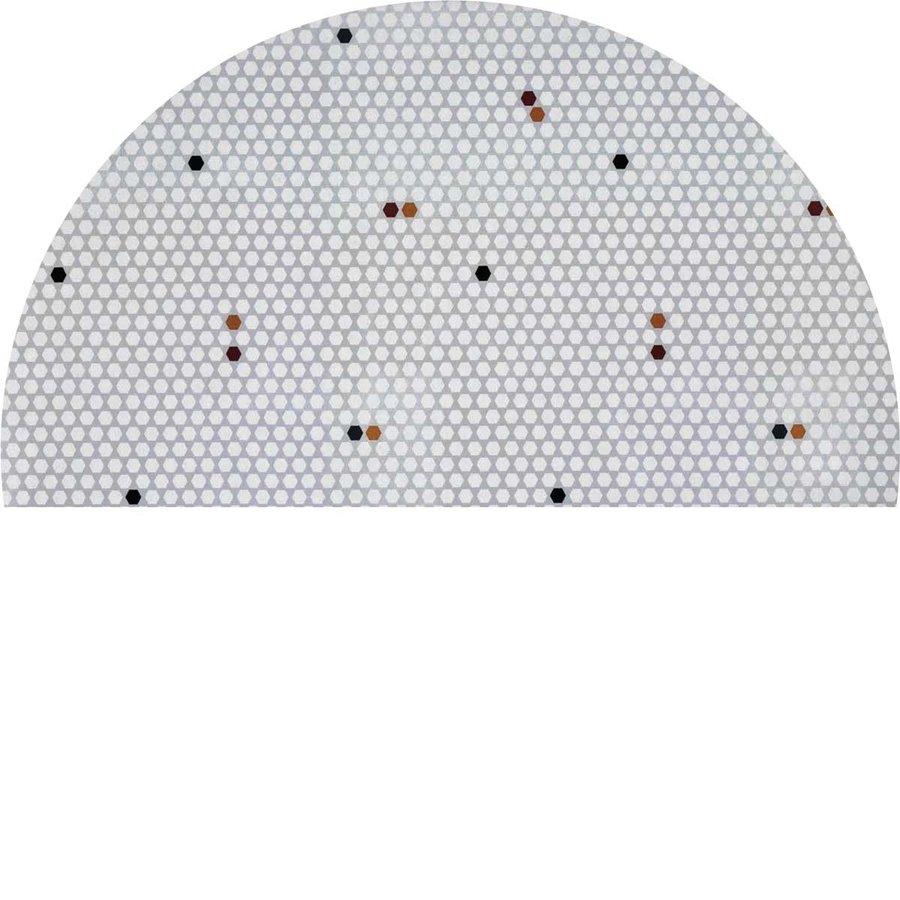 Tafelkleed Gecoat - 140 cm Hexagon Accent Grijs
