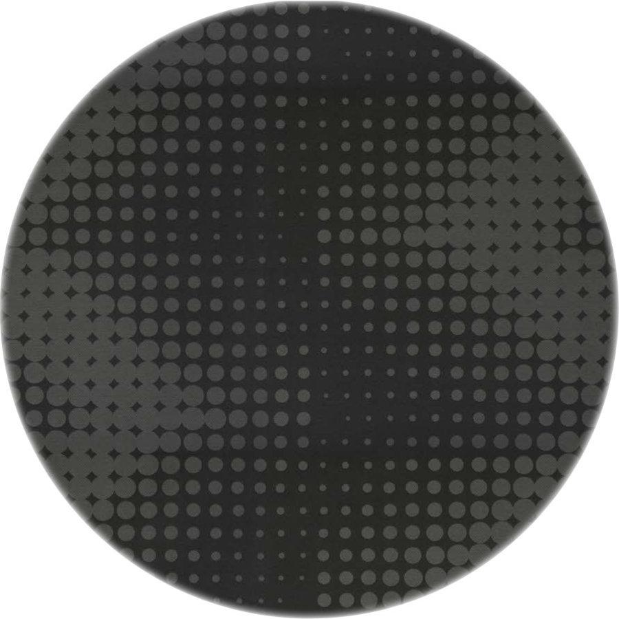 Rond Tafelkleed Gecoat - 140 cm - Hippe Stippen - Zwart