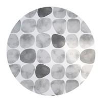 Rond Tafelkleed Gecoat - 140 cm - Keien - Zwart