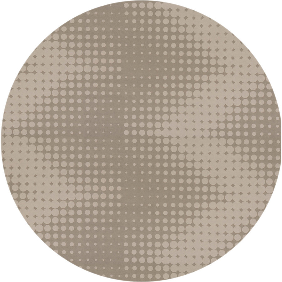 Rond Tafelkleed Gecoat - 140 cm - Hippe Stippen - Beige