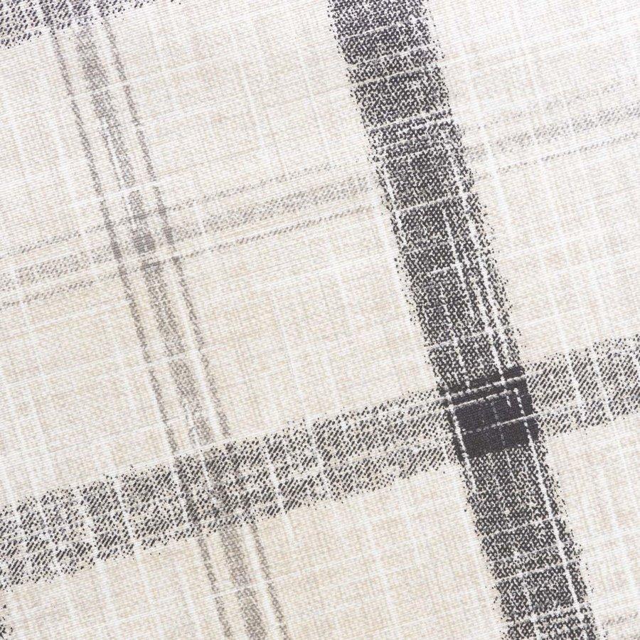 Rond Tafelkleed Gecoat - 140 cm - Grote etnische ruit Beige/Zwart