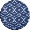 MixMamas Rond Tafelkleed Gecoat - 140 cm - Tie Dye Indigo Blauw