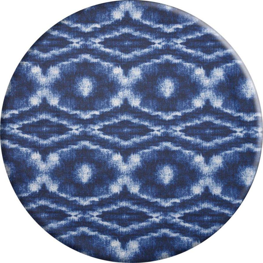 Rond Tafelkleed Gecoat - 140 cm - Tie Dye Indigo Blauw