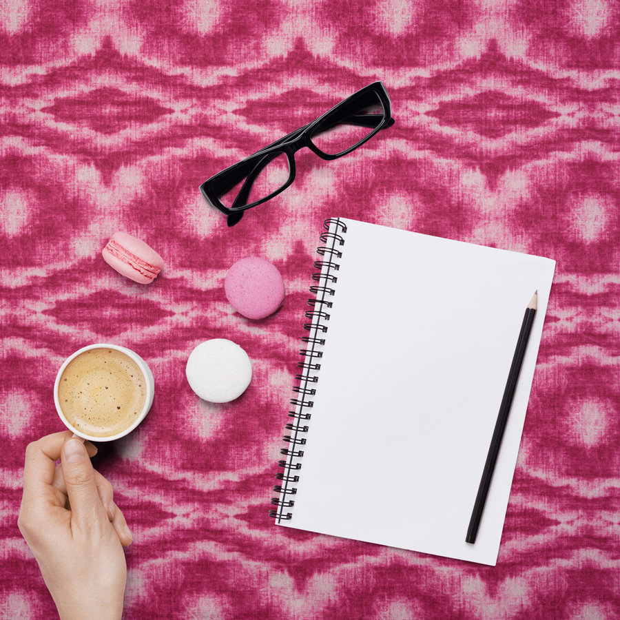 Rond Tafelkleed Gecoat - 140 cm - Tie Dye roze
