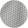 MixMamas Rond Tafelkleed Gecoat - 160 cm - Sterren - Grijs / Wit