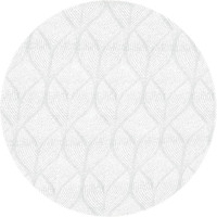 Rond Tafelkleed Gecoat Jacquard - 140 cm - Ogee - Wit