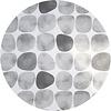 MixMamas Rond Tafelkleed Gecoat - 160 cm - Keien -Zwart