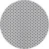MixMamas Rond Tafelkleed Gecoat - 160 cm Rondjes en Vierkantjes Grijs