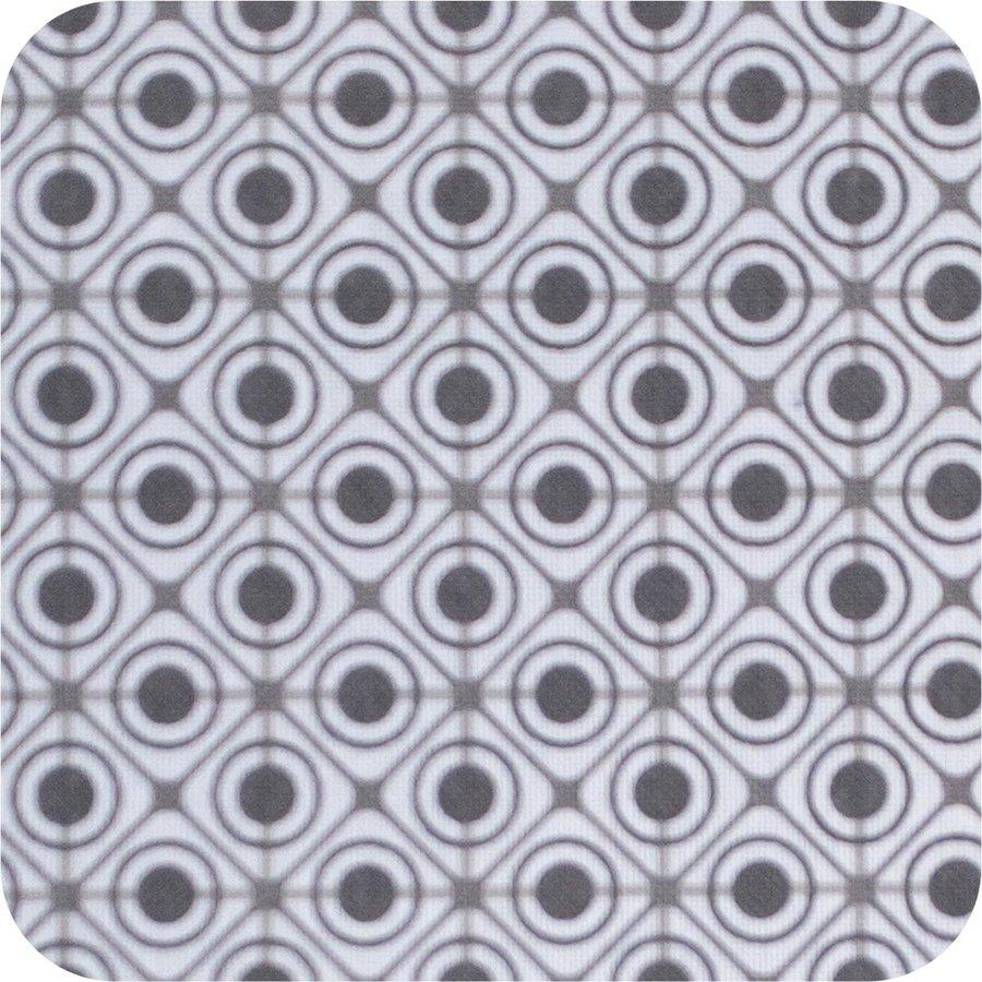 Rond Tafelkleed Gecoat - 160 cm Rondjes en Vierkantjes Grijs