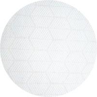 Rond Tafelkleed Gecoat Jacquard - 140 cm Striped Hexagon - Wit