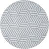 MixMamas Rond Tafelkleed Gecoat Jacquard - 140 cm Seamless Hexagon - Grijs