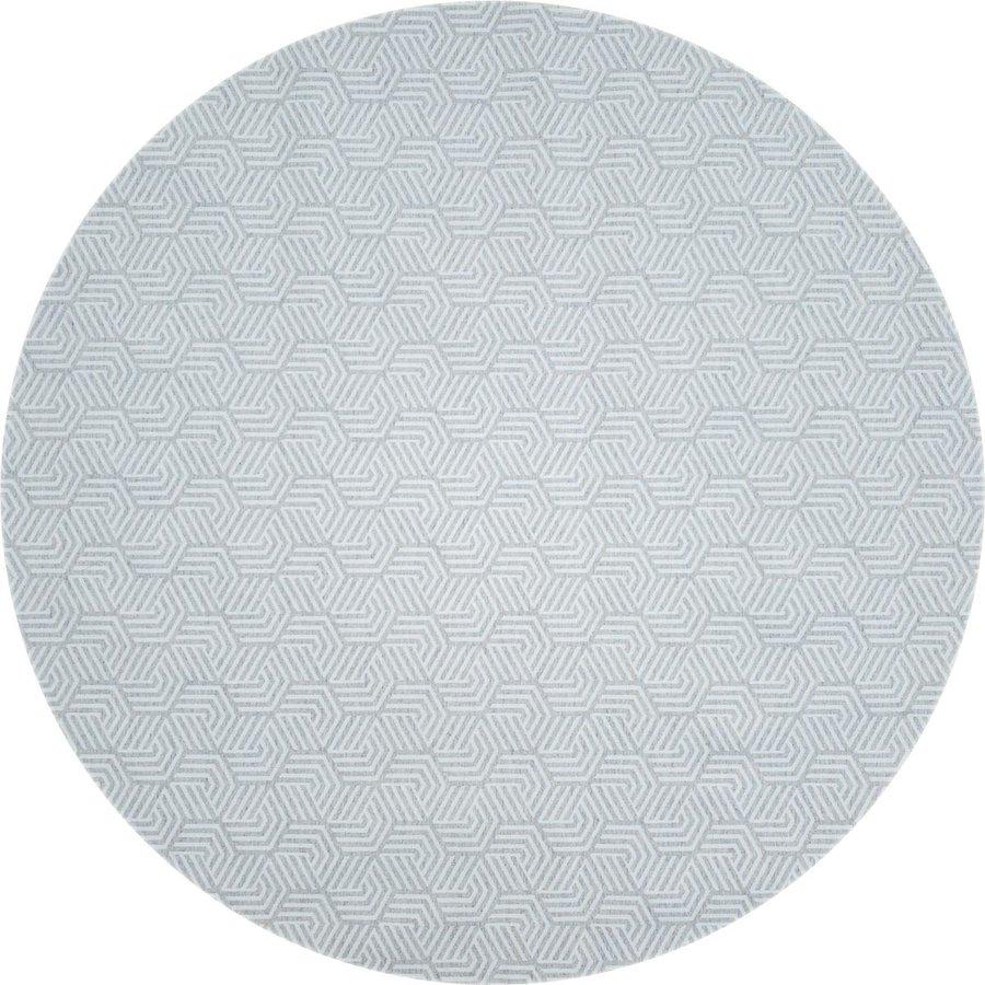 Rond Tafelkleed Gecoat Jacquard - 140 cm Seamless Hexagon - Grijs
