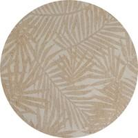 Rond Tafelkleed Gecoat Jacquard - 140 cm Palm Leaves - Beige