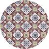 MixMamas Rond Tafelkleed Gecoat - 140 cm - Old Tiles