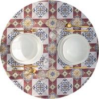 Rond Tafelkleed Gecoat - 140 cm - Old Tiles