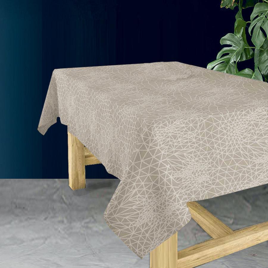 Tafelkleed Gecoat Infinity -140 x 200 cm - Beige