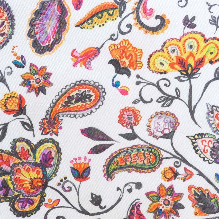 Rond Tafelkleed Gecoat - 140 cm - Paisley oker