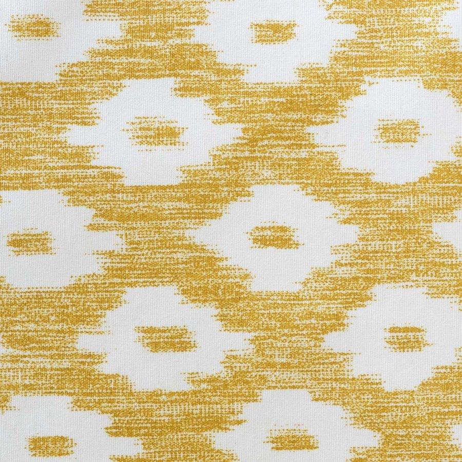 Rond Tafelkleed Gecoat - 160 cm - Etnische Ruit - Mosterdgeel