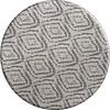MixMamas Rond Tafelkleed Gecoat - 160 cm - Grote etnische ruit - Grijs