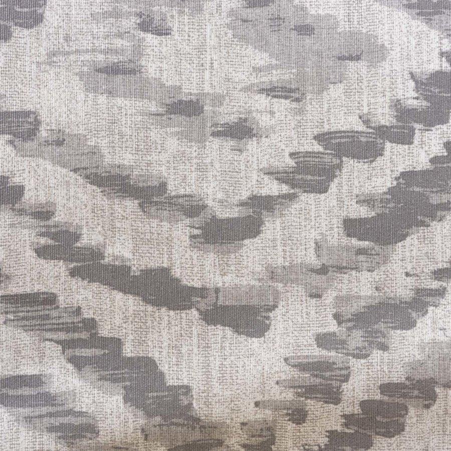 Rond Tafelkleed Gecoat - 160 cm - Grote etnische ruit - Grijs