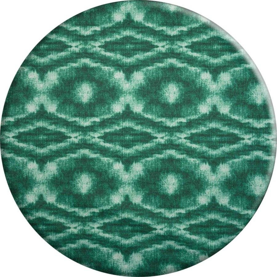 Rond Tafelkleed Gecoat - 160 cm - Tie Dye Groen