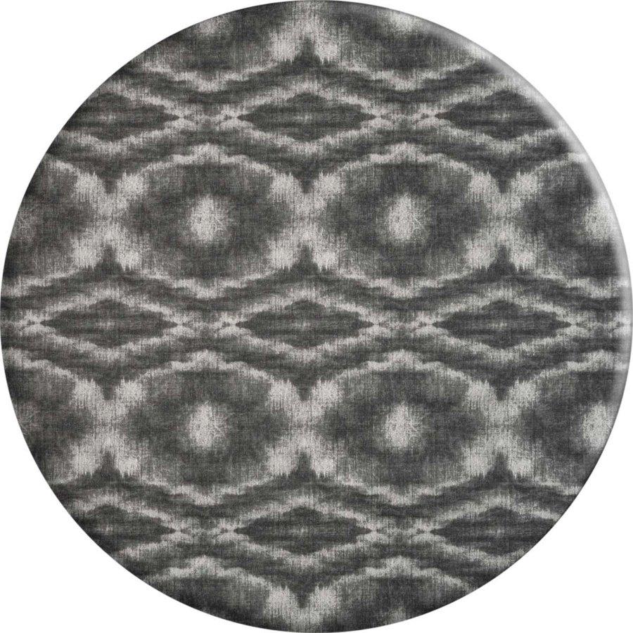 Rond Tafelkleed Gecoat - 160 cm - Tie Dye Grijs