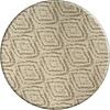 MixMamas Rond Tafelkleed Gecoat - 160 cm - Grote etnische ruit - Zand
