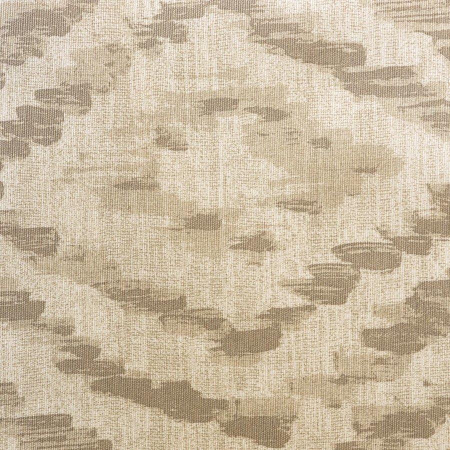 Rond Tafelkleed Gecoat - 160 cm - Grote etnische ruit - Zand