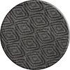 MixMamas Rond Tafelkleed Gecoat - 160 cm - Grote etnische ruit - Zwart