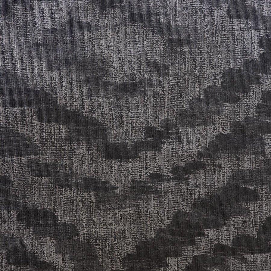 Rond Tafelkleed Gecoat - 160 cm - Grote etnische ruit - Zwart