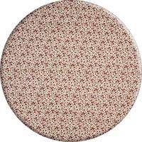 Rond Tafelkleed Gecoat - 160 cm - Roosjes Granaat rood