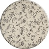 MixMamas Rond Tafelkleed Gecoat - 160 cm - Floral2 - zwart