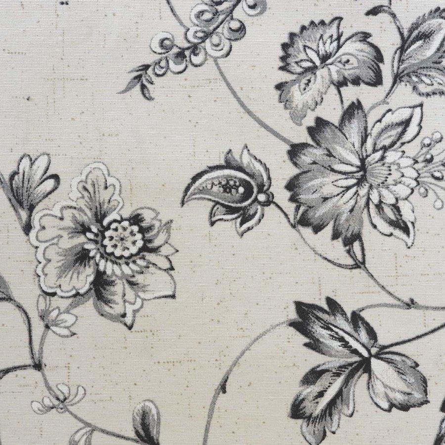 Rond Tafelkleed Gecoat - 160 cm - Floral2 - zwart