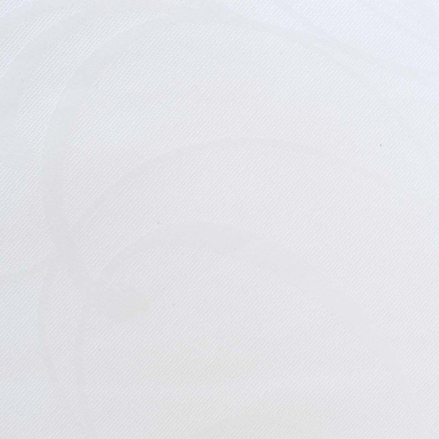Rond Tafelkleed Gecoat Jacquard - 160 cm - Elegance Wit